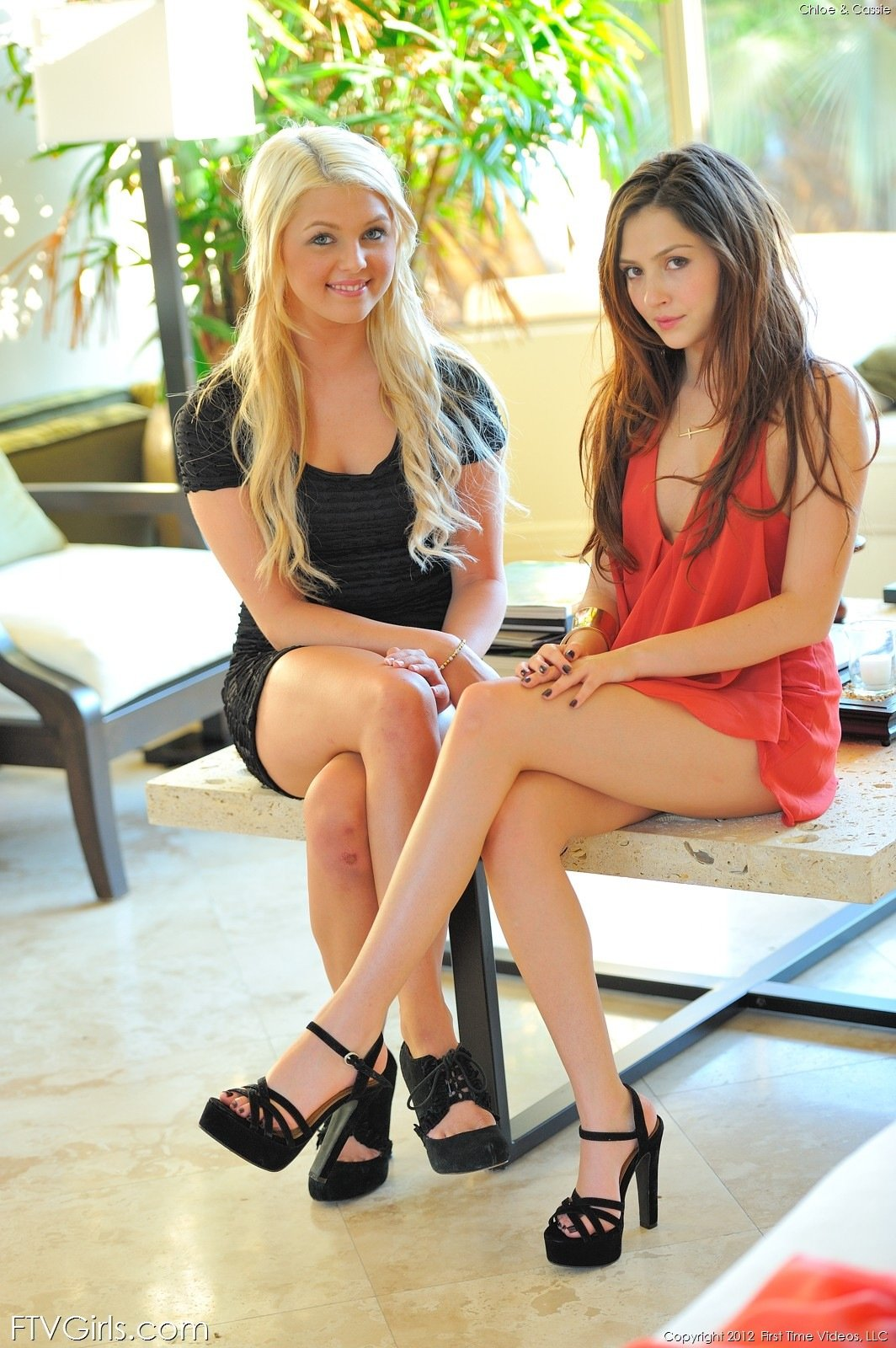 Cassie and Chloe Horny Friends | Nude Lesbian Teen